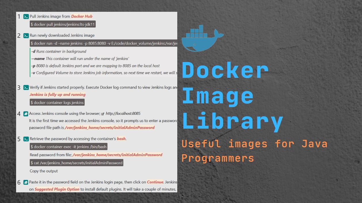 Docker Image Library   Pradeep's Java blog